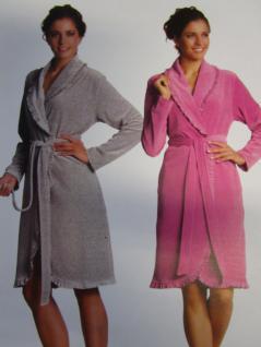 Damen Bademantel Gr. S Ariel 8019/5154 von Vossen 100% Baumwolle Farbe silbergrau oder orchidee - Vorschau 3