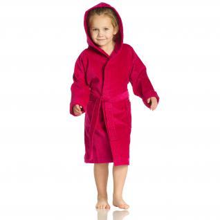 """Bademantel für Kinder """"Texie"""" von Vossen 100% Baumwolle Farbe 377 cranberry/pink Größe 116"""