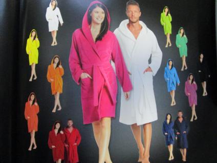 Damen Bademantel Texas Gr. M (42/48) von Vossen 100% Baumwolle Farbe meadowgreen - Vorschau 3