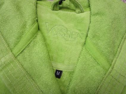 Damen Bademantel Texas Gr. M (42/48) von Vossen 100% Baumwolle Farbe meadowgreen - Vorschau 5