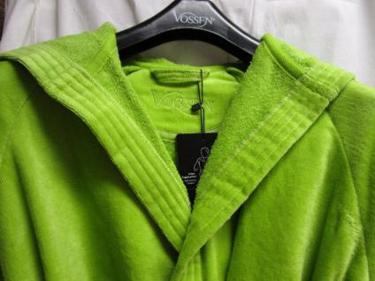 Damen Bademantel Texas Gr. M (42/48) von Vossen 100% Baumwolle Farbe meadowgreen - Vorschau 2