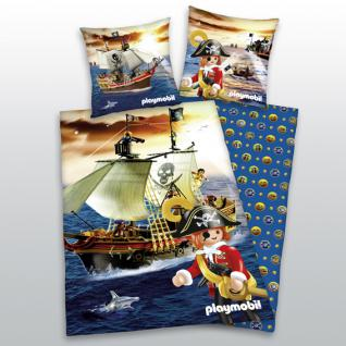 """Kinder Bettwäsche """"Playmobil Pirat"""" 135x200 + 80x80 cm von Herding"""