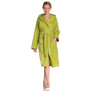 Damen Bademantel Texas Gr. M (42/48) von Vossen 100% Baumwolle Farbe meadowgreen - Vorschau 1