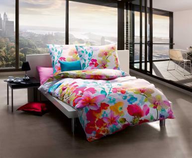 bettw sche 135x200 80x80 cm mako satin mit digitaldruck design 557 608 bunt florales blumenmotiv. Black Bedroom Furniture Sets. Home Design Ideas