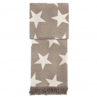 wohndecke star blanket mit sternen 150x200 cm farbe nougat beige von pad kaufen bei betten. Black Bedroom Furniture Sets. Home Design Ideas