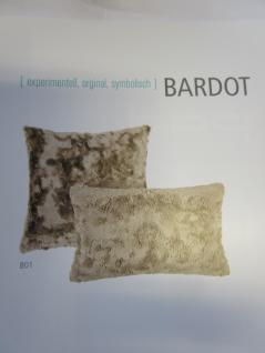 Sofakissen Fellkissen (Imitat) Bardot Kuschelkissen Uni 30x50 cm Farbe nougat (beige) von Pad - Vorschau 2