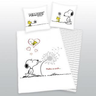 Snoopy Bettwäsche 135x200 + 80x80 cm Peanuts 44890 50.050 aus 100% Baumwolle von Herding - Vorschau