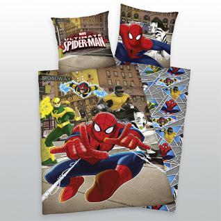 Spiderman Bettwäsche 135x200 + 80x80 cm Ultimate Spiderman 44360 67.050 aus 100% Baumwolle von Herding - Vorschau