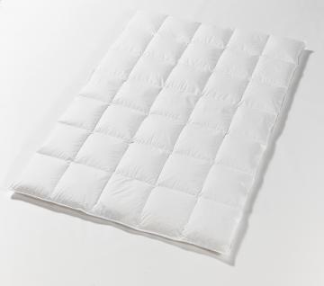 Daunendecke, medium warm 135x200 cm Kassettendecke mit 480 g neuen weißen 100 % Gänsedaunen Klasse 1 Bettdecke 6x8 Karos Kein Lebendrupf