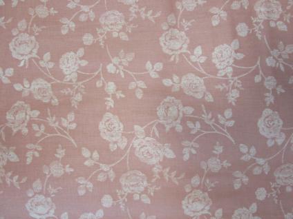 Bettwäsche 135x200 cm Mako-Satin 100% Baumwolle Garnitur Basefield Roses Farbe rose