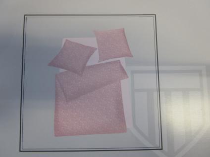 Bettwäsche 155x220 cm Mako-Satin 100% Baumwolle Garnitur Basefield Roses Farbe rose - Vorschau 4
