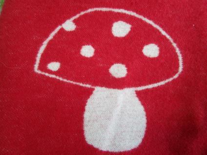 """Bezug für Wärmflasche 21x30 cm rotweiß """"Pilz"""" kuschliger Fleece von David Fussenegger"""