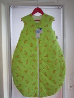 Schlafsack Nice Giraffe Größe 90 cm Art.1920/1631 von Odenwälder BabyNest Farbe grün/limone - Vorschau 1