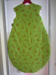 Schlafsack Nice Giraffe Größe 90 cm Art.1920/1631 von Odenwälder BabyNest Farbe grün/limone - Vorschau 2