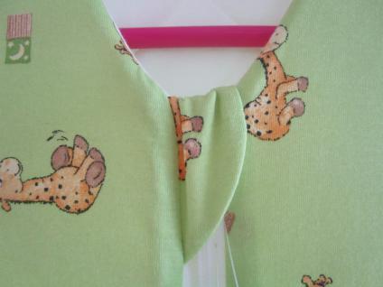 Schlafsack Nice Giraffe Größe 90 cm Art.1920/1631 von Odenwälder BabyNest Farbe grün/limone - Vorschau 3