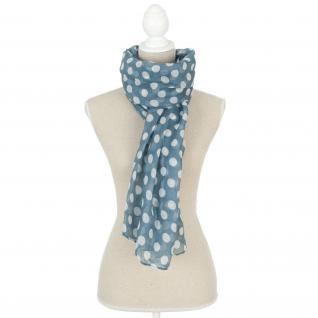Schal/Halstuch blau mit weissen Tupfen 70x180 cm SJ0534BL von Clayre und Eef - Vorschau