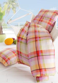Bettwäsche Garnitur 135x200cm Mako-Satin Lifestyle Laci 985 Multicolor von Estella