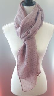 Schal/Halstuch rosé mit kleinen Punkten 70x180 cm von Clayre und Eef - Vorschau 3