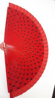 Fächer rot mit schwarzen Punkten von Clayre und Eef