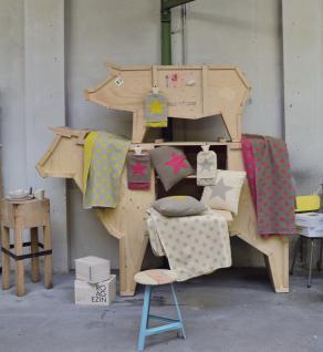 Kissenbezug Stern 40x40 cm Silvretta Pink oder Curry von David Fussenegger - Vorschau 3