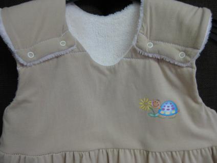 Schlafsack 90 cm Beige Jersey von Odenwälder BabyNest 1091/620 - Vorschau 2