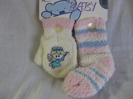 Baby Socken und Handschuhe in kuschliger Qualität je 1 Paar