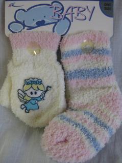 Baby Socken und Handschuhe in kuschliger Qualität je 1 Paar - Vorschau 2