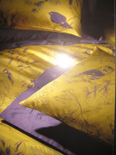 Satin Bettwäsche 155x220 + 80x80 cm Les Oiseaux 750/318 von Christian FIschbacher