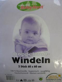 Windeln Baby Mullwindeln Doppelmullwindeln 60x60 cm im 2erPack von Odenwälder - Vorschau 3