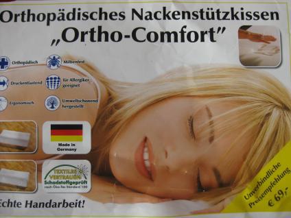 Orthopädisches Nackenstützkissen ca 32x62x8 cm Ortho Comfort Super Soft Viscoschaum
