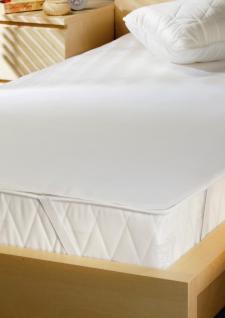 Matratzen Schutzbezug 90x200 cm Molton wasserdicht mit innenliegender Nässesperre u. 4 Eckgummis Inkontinenz Fixspannauflage KenoKent - Vorschau 1