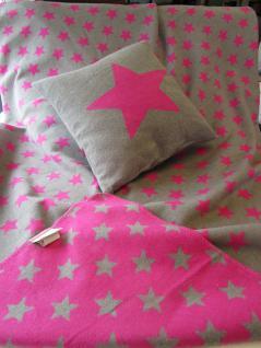 """Flanell-Allzweckdecke """"Sterne"""" in Pink oder Curry SILVRETTA 140/200 cm von David Fussenegger - Vorschau 4"""