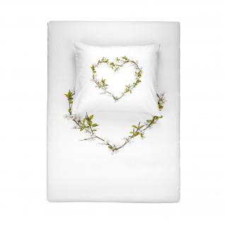 Bettwäsche 200x220 Blossom 700695 von Walra 100 % Baumwolle Garnitur mit Kissen Hochzeitsbettwäsche - Vorschau 2