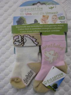 Baby-Socken Bio-Cotton Doppelpack versch. Größen - Vorschau 4