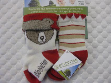Baby-Socken Bio-Cotton Doppelpack versch. Größen - Vorschau 3