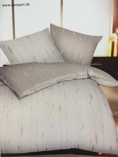 Satin Bettwäsche 200x200 cm Dessin 584 Farbe Natur Garnitur inkl. 2 Kissenbezüge 80x80cm Mako-Satin von Kaeppel 684-646