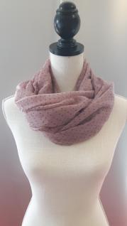 Schal/Halstuch rosé mit kleinen Punkten 70x180 cm von Clayre und Eef - Vorschau 1