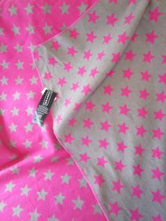 """Flanell-Allzweckdecke """"Sterne"""" in Pink oder Curry SILVRETTA 140/200 cm von David Fussenegger - Vorschau 5"""