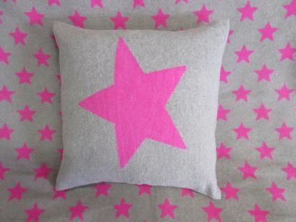 Kissenbezug Stern 40x40 cm Silvretta Pink oder Curry von David Fussenegger - Vorschau 4