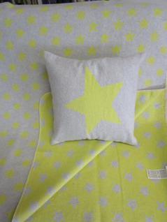 Kissenbezug Stern 40x40 cm Silvretta Pink oder Curry von David Fussenegger - Vorschau 1