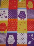 Baby- und Kinderdecke 70x90 cm Juwel Eulen Patch bunt von Fussenegger