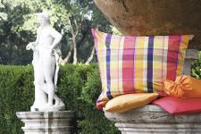 Trendige Bettwäsche 135x200 cm + 80x80 cm Karo Buntegewebe Garnitur von Momm mit Reißverschlusss