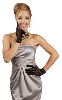 Handschuh Spitze schwarz kurz Spitzenhandschuh - Vorschau