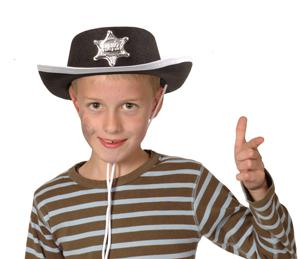 Cowboyhut Sheriff Cowboy Hut Kinder Gr. 55-57 - Vorschau