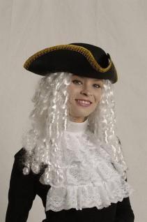 Dreispitz schwarz mit Goldlitze Pirat Piratenhut Hut Pirat Kapitän Kapitänshut