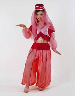 Kostüm Jeannie Kinder Haremsdame mit Hut Karneval