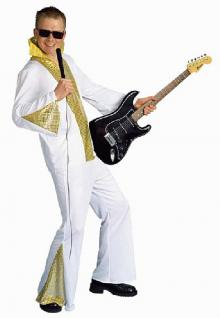 Rock - Star Kostüm 2-teilig Karneval Fasnet