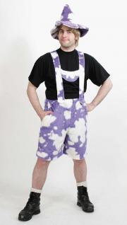 Kuhhose Hose Kuh lila-weiß kurz Kostüm Kuhkostüm - Vorschau 1