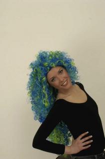 Perücke Nixe lang 3-farbig Meerjungfrau - Vorschau