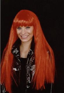 Perücke Cher rot